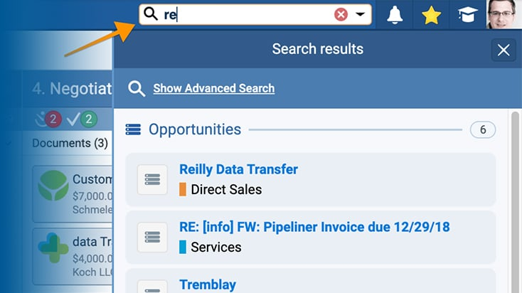 Pipeliner's Powerful Search Feature