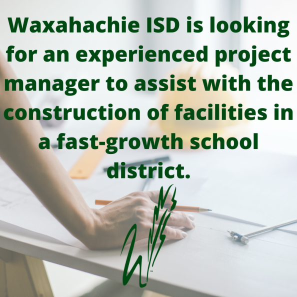 graphic reads WISD is looking for experienced project manager