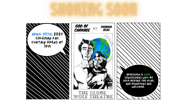 global wolf theatre graphic reads show opens April 10